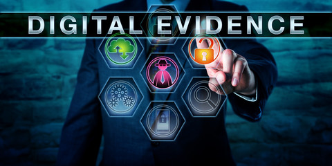 social media divorce- digital evidence graphic